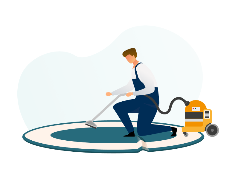 Technician who specializes in onsite field services vacuuming